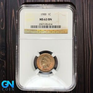 1900 NGC MS-63 Indian Head Cent Penny  #W6974