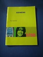 Siemens M50 Bedienungsanleitung Handbuch DEUTSCH neuwertig RARITÄT SELTEN
