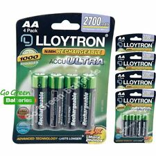 20 x Lloytron AA 2700 mAh Rechargeable Batteries NiMH LR6 HR6 MN1500 2600