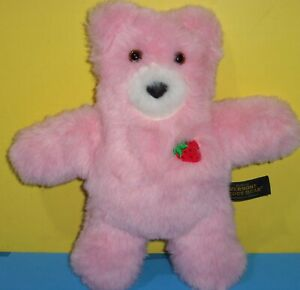 "Authentic Vermont Teddy Bear Plush Stuffed Animal Flat 13"" Strawberry Scented"