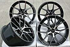 "ALLOY WHEELS 18"" CRUIZE GTO BP BLACK POLISHED FACE CONCAVE 5X108 18 INCH ALLOYS"