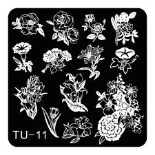 NEW Manicure TU Nail Stamping Plate Stainless Steel Nail Art Stamp Template U-11