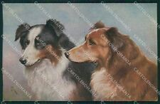 Dog Reichert T S N Serie 2028 postcard cartolina QT6814