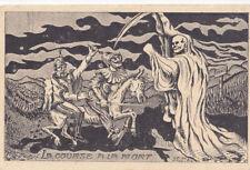 Guerre 14-18 caricature satirique  anti kaiser MACABRE COURSE DE LA MORT