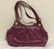 COACH Handbag High gloss Purple Leather Purse - 100% AUTHENTIC *RARE*