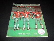 ORIGINAL OHIO STATE FOOTBALL PROGRAM VS. ILLINOIS  NOVEMBER 6, 1976