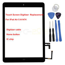 for iPad Air A1474 Touch Screen Digitizer Front Lens Replacement & Home Button