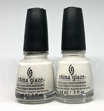 China Glaze Nail Polish Snow 818 Clean Jelly White Lacquer Natural French Look