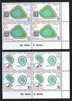 KIRIBATI 1986 ISLAND MAPS - BLOCKS OF 4