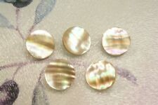 5 vintage very iridescent MOP buttons with metal shank to back 18 mm. diameter