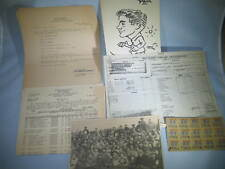 WWII US Army Discharge Mileage Ration Separation Final Payment Paper Lot