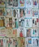 Real Vintage Sewing Patterns 70'S Dresses Skirts Jackets Pants -U PICK Lot # 14