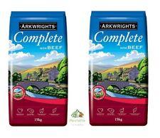 More details for 2x 15kg bags arkwrights beef complete dry dog food biscuits bulk buy 30kg