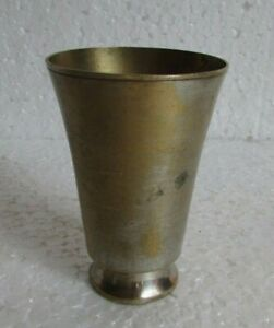 Vintage Old Brass Handcrafted Unique Shape Wine Goblet Glass Collectible
