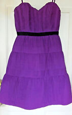 BCBG Maxazaria Womens Size 02 Dress Purple Corset Pleats Evening Event Cocktail