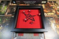 Elder Sign Dice Tray - Black and Red Square Wooden - D&D RPG Gaming Rolling Tray
