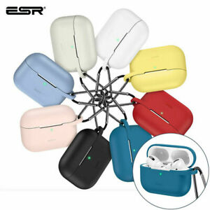 ESR for Apple AirPods 2021, Earphone Case with Keychain Hook Silicone Skin Cover