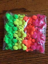 "Fuzzy Teddi Bears..1 1/4"" hot color bears..Gift Tops or...12 Asst.  Free Ship US"