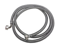 METAL BRAIDED STAINLESS STEEL WATER SUPPLY HOSE 3/4 X 3/4 2.5M DISHWASHER