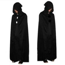 Halloween Costume Devil Long Tippet Cape Theater Prop Death Hoody Cloak Black LH
