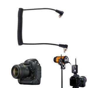 Male to Male M-M Flash PC Sync Cable Cord W/ Screw Lock For Canon Nikon YONGNUO
