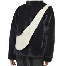 [Nike] Women's Sportswear Faux Fur Jacket - Black (CU6559-010)