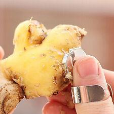 2Pcs Practical Stainless Steel Kitchen Gadget Garlic Ginger Cutter Peeler Tools