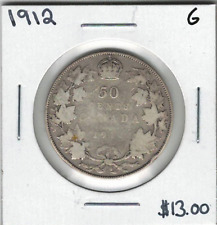 Canada 1912 Silver 50 Cents G