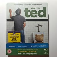 Ted - Mark Wahlberg Steelbook Blu-Ray édition Limitée UK import Neuf