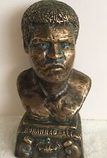 VINTAGE MUHAMMAD ALI BRONZE BUST!!! 8 in tall 4 in wide 2.75lbs!!!! RARE