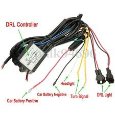 LED Daytime Running Light DRL Relay Harness car Auto Control On/Off Switch kit