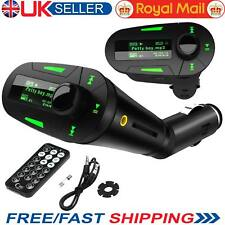 Wireless USB FM Transmitter Car Charger MP3 Player SD For Mobile Phone Tablet UK