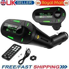 Transmisor Fm Inalámbrico USB cargador de coche MP3 Reproductor SD para Tablet Teléfono Móvil UK