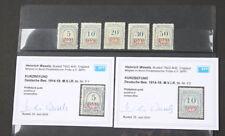 Besetzung I. WK Rumänien Portomarken Nr 1 bis 5 postfrisch geprüft/Befund Wasels