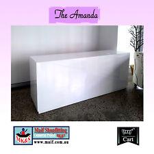 Amanda Reception counter, Sales counter, Sales desk , white gloss, clean lines