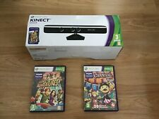 Microsoft Xbox 360 Kinect with 2 games Adventures and carnival VGC