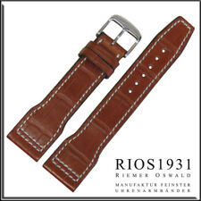 22x18 mm RIOS1931 for Panatime - Cognac Hurricane - Alligator Watch Band For IWC