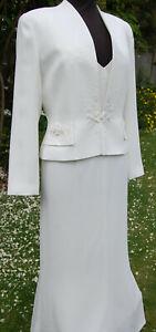 CANDICI LADIES ELEGANT WEDDING DRESS AND JACKET UK SZ 12