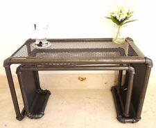 Retro Industrial Style Vintage Nest Of Tables - Set Of 2 Side Tables
