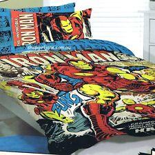 Avengers - Invincible Iron Man - Double/US Full Bed Quilt Doona Duvet Cover Set