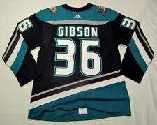 John GIBSON sz 50 Medium Anaheim Ducks ADIDAS 25th Anniversary jersey PRO CUSTOM