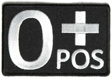 O POSITIVE Blood ID Patch - By Ivamis Trading - 3x2 inch P4327 Free Shipping