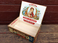 "Corina ""Queen of Cigars"" Cigar Box with Tax Stamp Remnant"