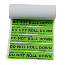 100 Warning Labels Window Tint Curing No-Trace-Adhesive Sticker DO NOT ROLL DOWN
