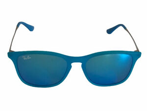Ray Ban Jr Blue Mirrored Sunglasses RJ 9061S 711/55  49-15-139 Scratched Lens