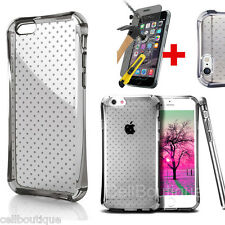 Transparent Clear Silicone Slim Gel Case and Screen Protector for iPhone 6S