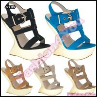 Women's Platform Shoes Sexy Ladies Casual Summer Sandals Size 3,4,5,6,7 UK New