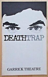 Deathtrap programme Garrick Theatre July 1979 Denis Quilley Death Trap