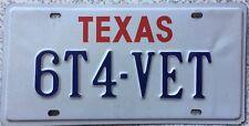 GENUINE Texas Vanity 1964 Corvette USA License Licence Number Plate Tag 6T4-VET