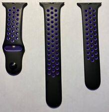Apple Watch Nike+ Black Hyper Grape Sport Band Series 4 5 44mm 0 1 2 3 42mm OEM